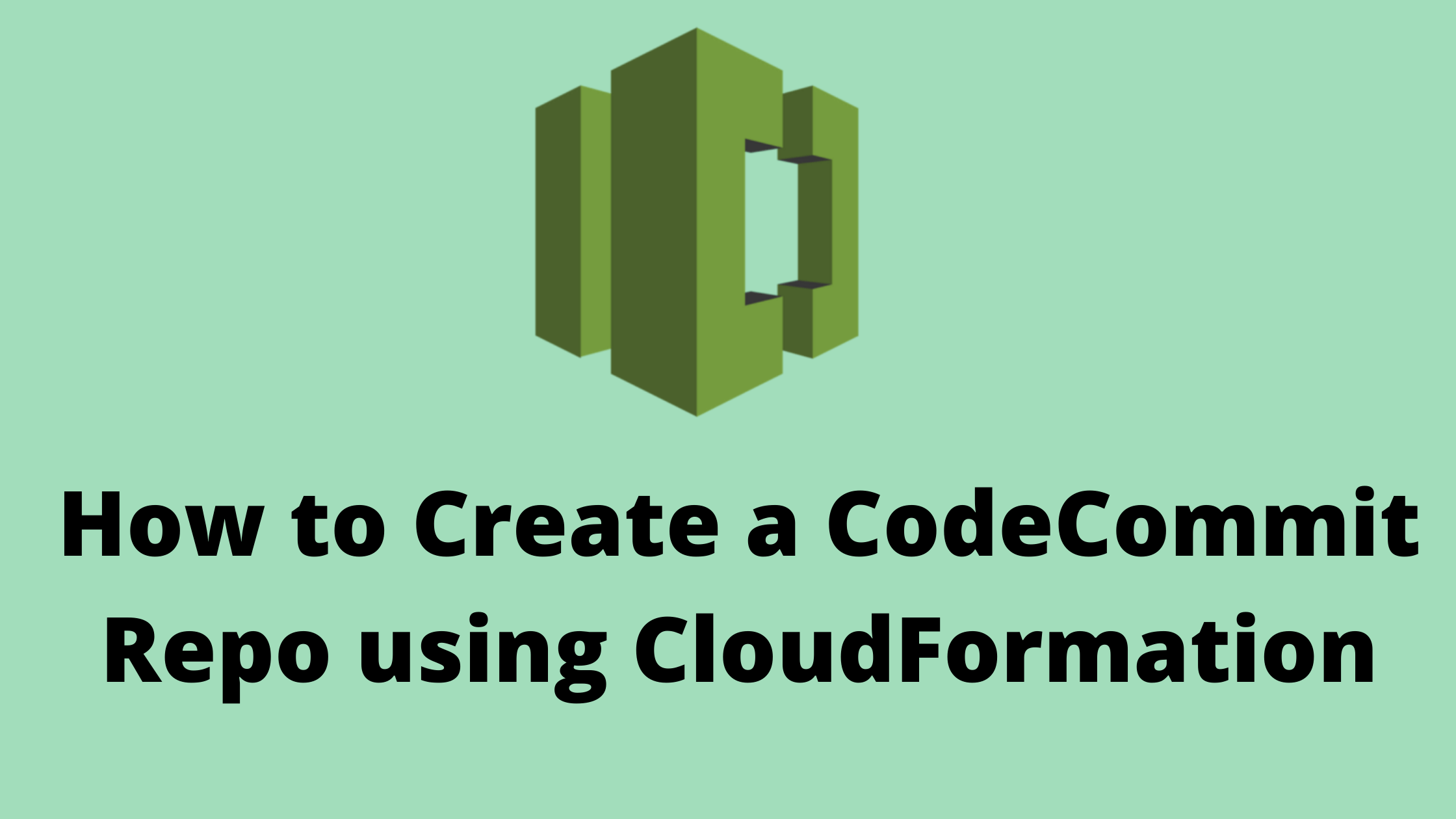 Create a CodeCommit repo using CloudFormation